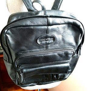 Vintage Bugatti Leather Backpack